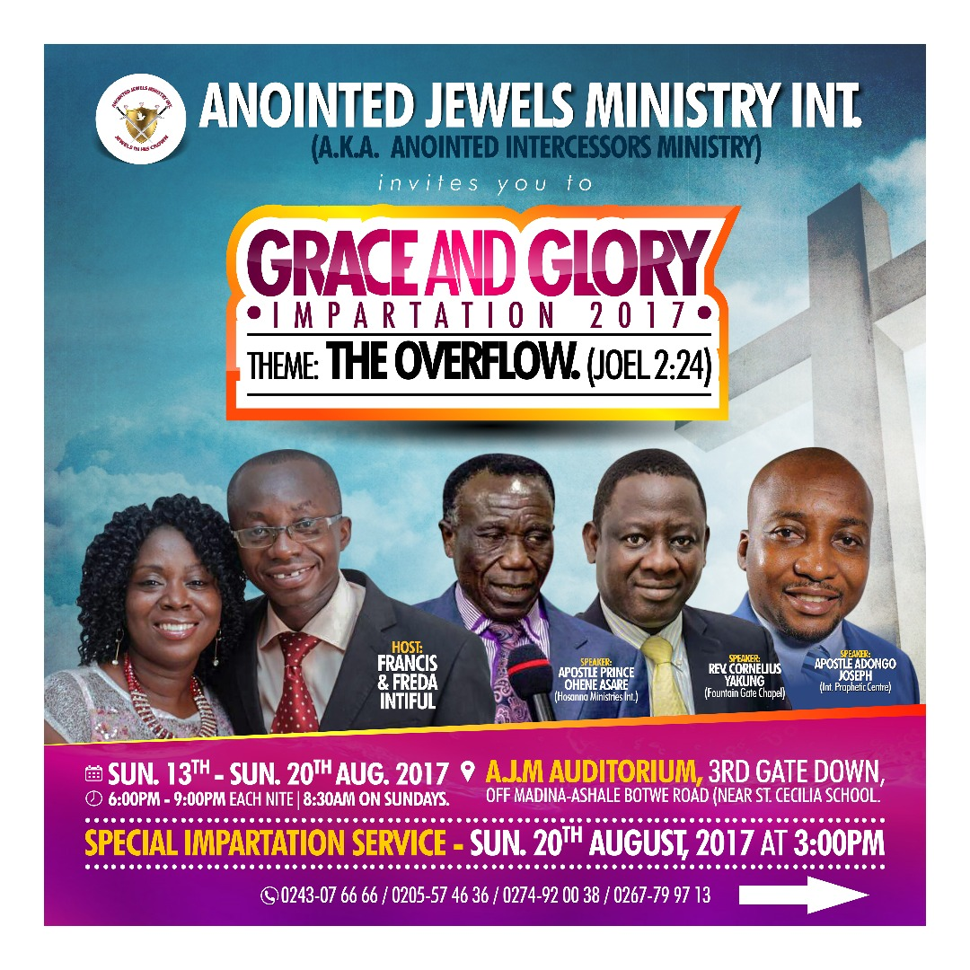 Annual Grace and Glory is Here Again (2017 edition)